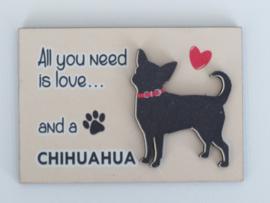 koelkastmagneet Chihuahua korthaar
