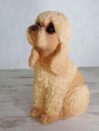 vintage beeldje Poedel abrikoos | 18,5 cm