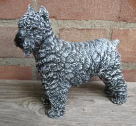 beeldje Bouvier grijs staand