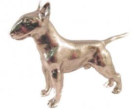 sculptuur Engelse Bull Terriër zilvertin