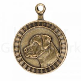 bronzen penning Rottweiler