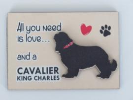 koelkastmagneet Cavalier King Charles spaniel