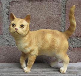 Kattenbeeldje/poezenbeeldje rood tabby staand