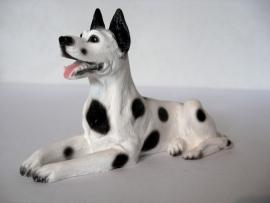 beeldje Duitse Dog harlequin