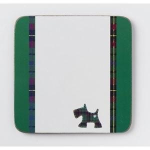 onderzetters Schotse Terriër groen