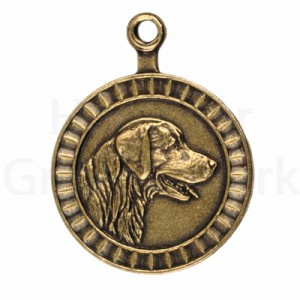 bronzen penning Golden Retriever