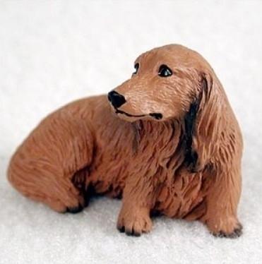 miniatuur Teckel rood langhaar