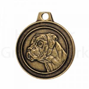 bronzen penning Boxer
