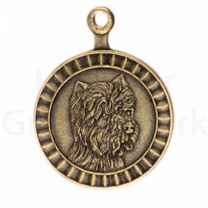 bronzen penning West Highland White Terriër