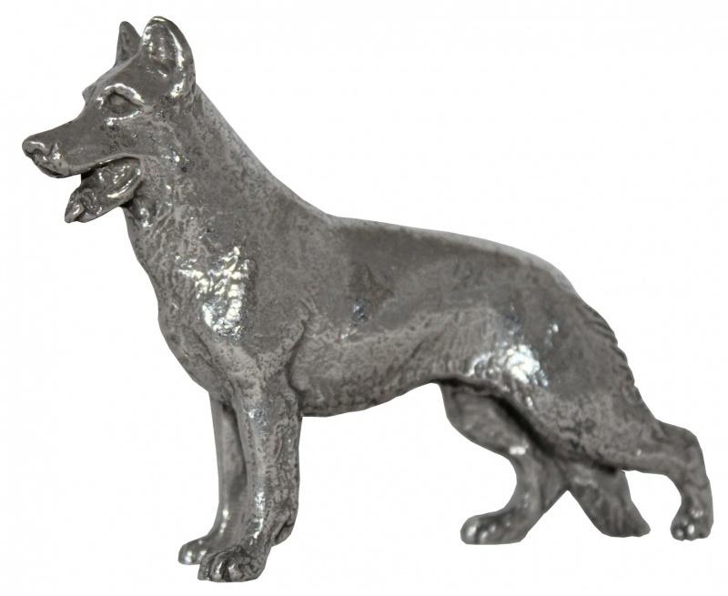 sculptuur Herder zilvertin