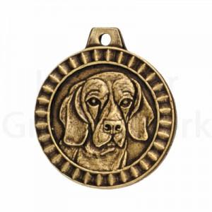 bronzen penning Beagle