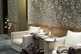 18006 Metal Velvet Flower and Lin Flax Flamant Suite III