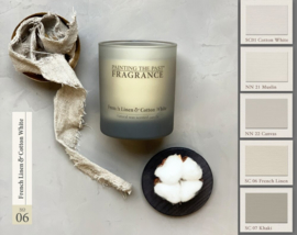 Candle NO 06 French Linen & Cotton White