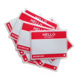 MTN Hello My Name Stickers 10 stuks