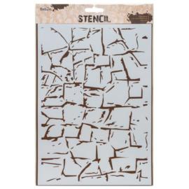 Stencil A4  Rock Wall