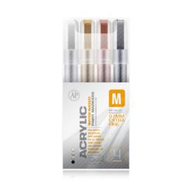 Montana Acrylic Marker Set 4st. Extra Fine Metallic