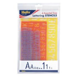 Helix Lettersjablonen set 4st.