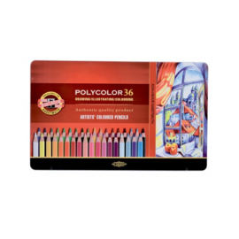 Koh-I-Noor Polycolor kleurpotloden 36 stuks.