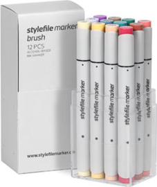 Stylefile Brushmarkers Main Kit C 12 stuks
