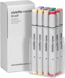 Stylefile Brushmarkers Main Kit C 12 stuks
