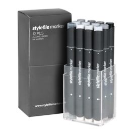 Stylefile Markers Neutral Grey 12 stuks