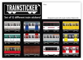 Underpressure Trein Sticker Set A4 12 st.
