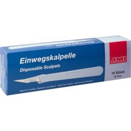 AMI Wegwerp scalpel. ds. à 10 st