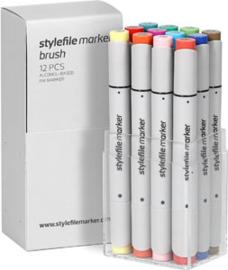 Stylefile Brushmarkers Main Kit B 12 stuks