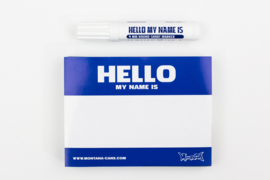 Hello My Name is Stickers Blue+marker 100st