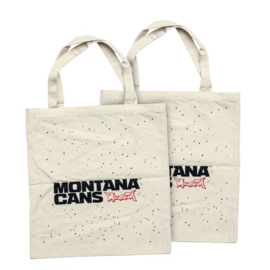 Montana Typo-Logo+Stars Cotton Bag - Natural