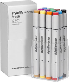 Stylefile Brushmarkers Main Kit A 12 stuks