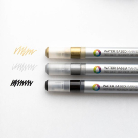 MTN  Water Based Marker 3mm Metallic Set  3st