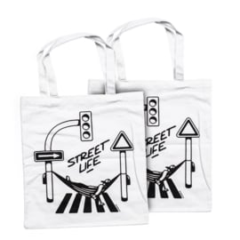 Montana Street Life Cotton Bag design by Form76 - White