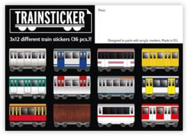 Underpressure Train stickers  A7 36 st.