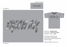 Ironlak T-shirt Science Grey