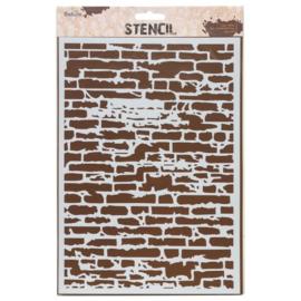 Stencil A4  Brick Wall
