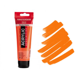 Amsterdam Acryl 120ml Fluor Orange