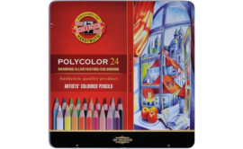 Koh-I-Noor Polycolor kleurporloden 24 stuks.