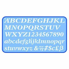 Helix Lettersjabloon 20mm Italic