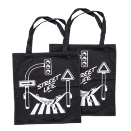 Montana Street Life Cotton Bag design by Form76 - Black