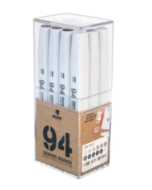 MTN 94 Graphic Marker 12 Grey Colors