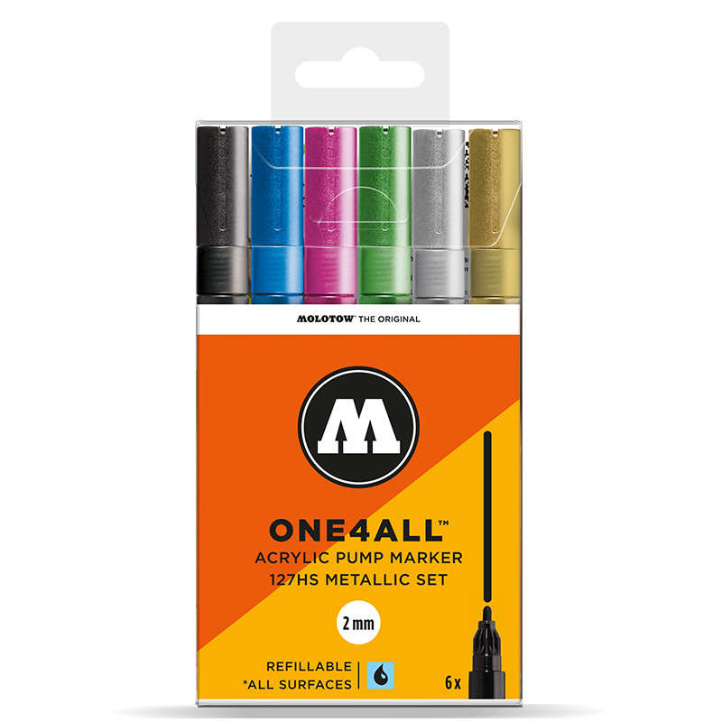 Molotow 127HS Metallic Set. 6st.