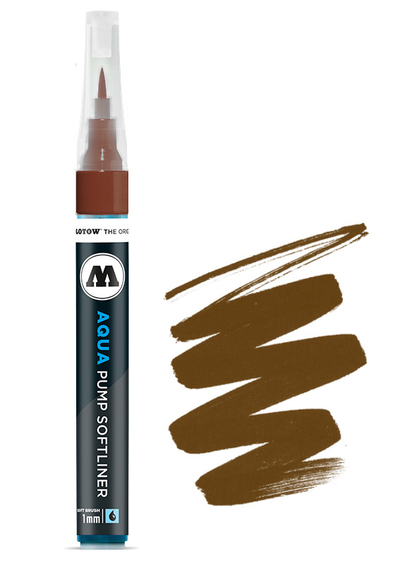 Aqua Ink Pump Softliner 1MM Brown