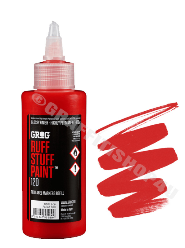 Grog Ruff Stuff Paint Ferrari Red