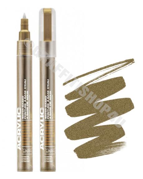 Montana Acrylic Marker 0,7mm  Metallic Gold