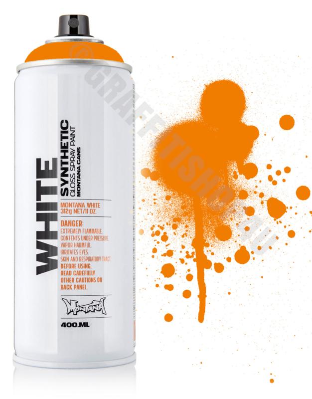 Montana White Bright Orange