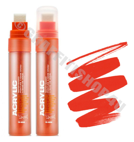 Montana Acrylic 15mm Shock Orange Dark