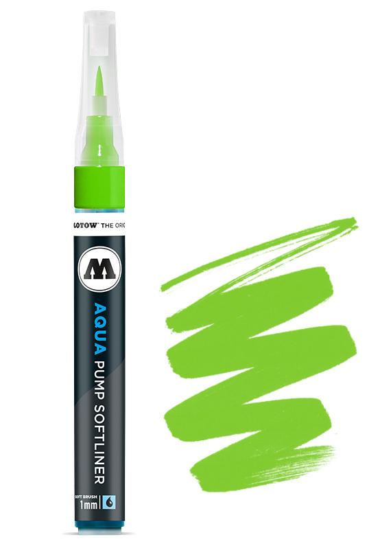 Aqua Ink Pump Softliner 1MM Yellow Green
