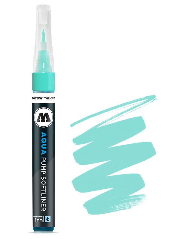 Aqua Ink Pump Softliner 1MM Turqoise