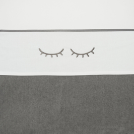 Meyco wieglaken Sleepy eyes grijs